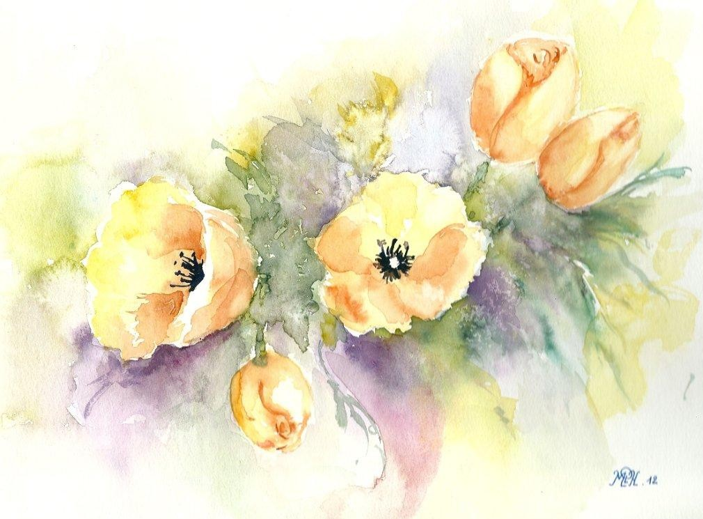 "Aquarelle n°1 - ""Tulipes"""