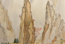 "Aquarelle n°17: ""Paysage Chinois"""