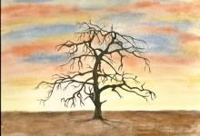 """Aquarelle n°20 : """"Auprès de mon arbre ..."""""""