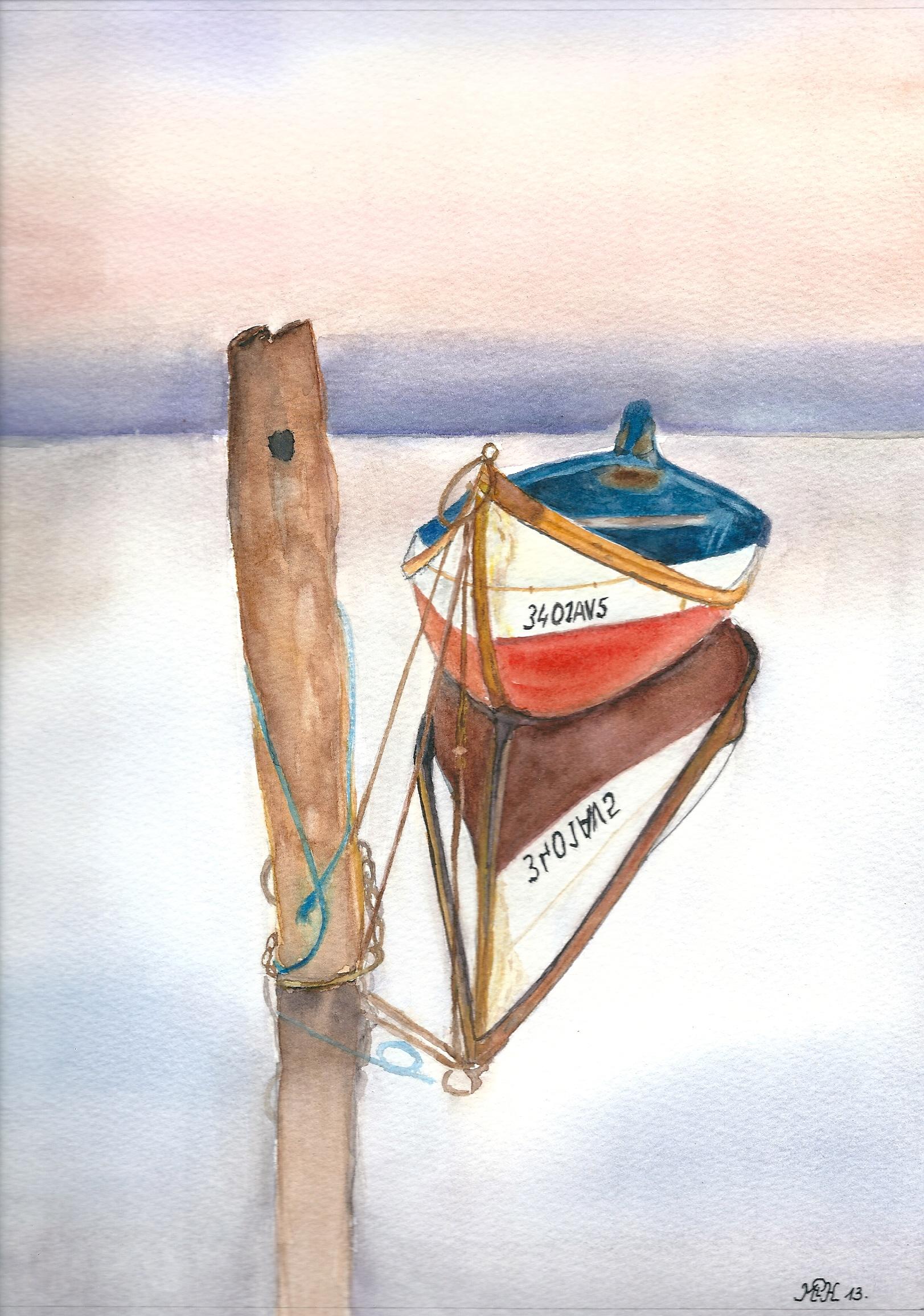 "Aquarelle n°31: ""Barque"""