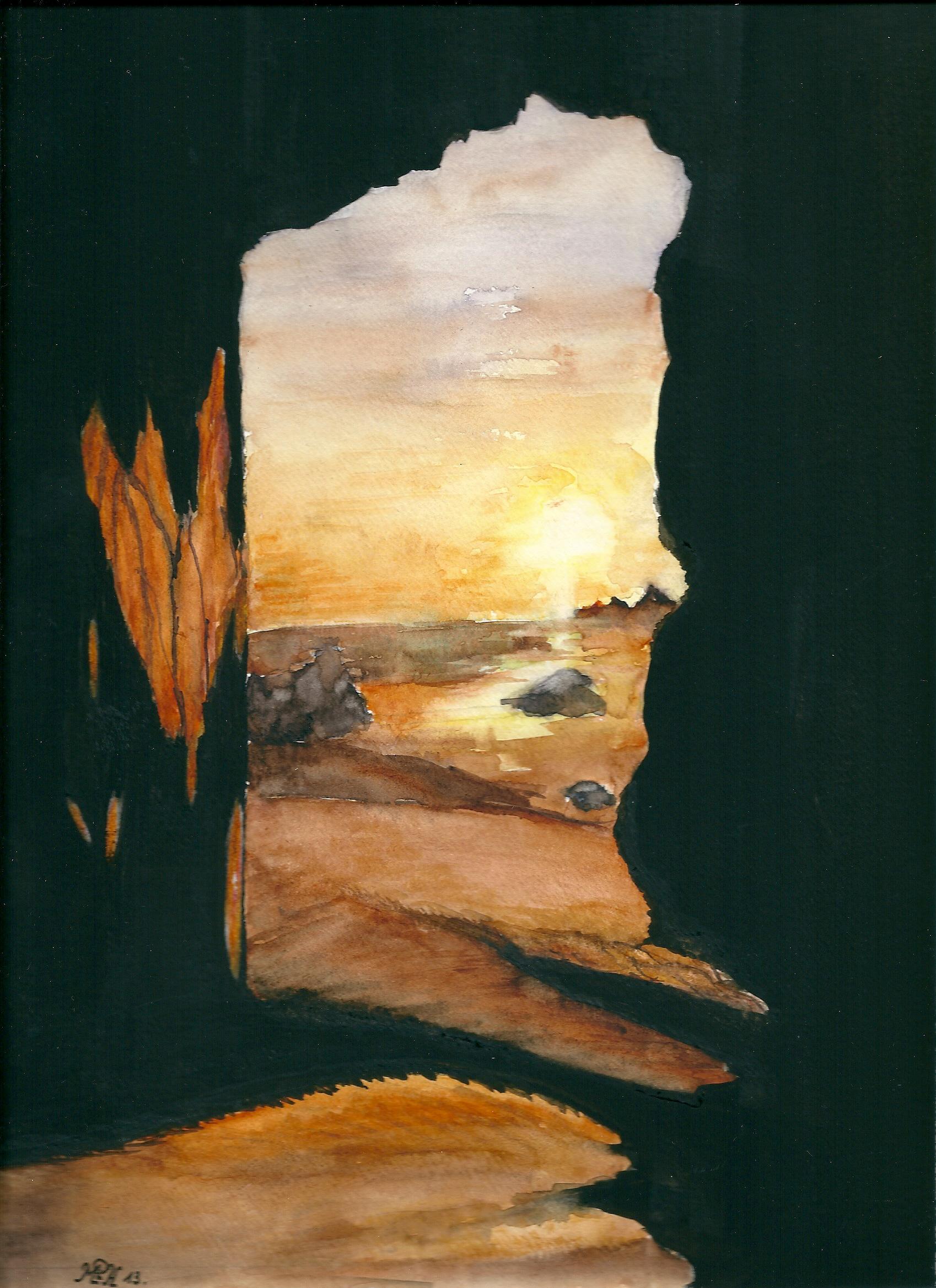 """Aquarelle n°33: """"La Porte"""""""