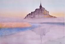 """Aquarelle n°43: """" Le Mont Saint-Michel """""""