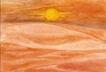 "Aquarelle n°49: "" Dunes """
