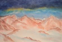 """Aquarelle n°57: """"Paysage de montagne"""""""
