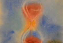 """Aquarelle n°60: """"Le Sablier ou l'Écoulement du Temps"""""""