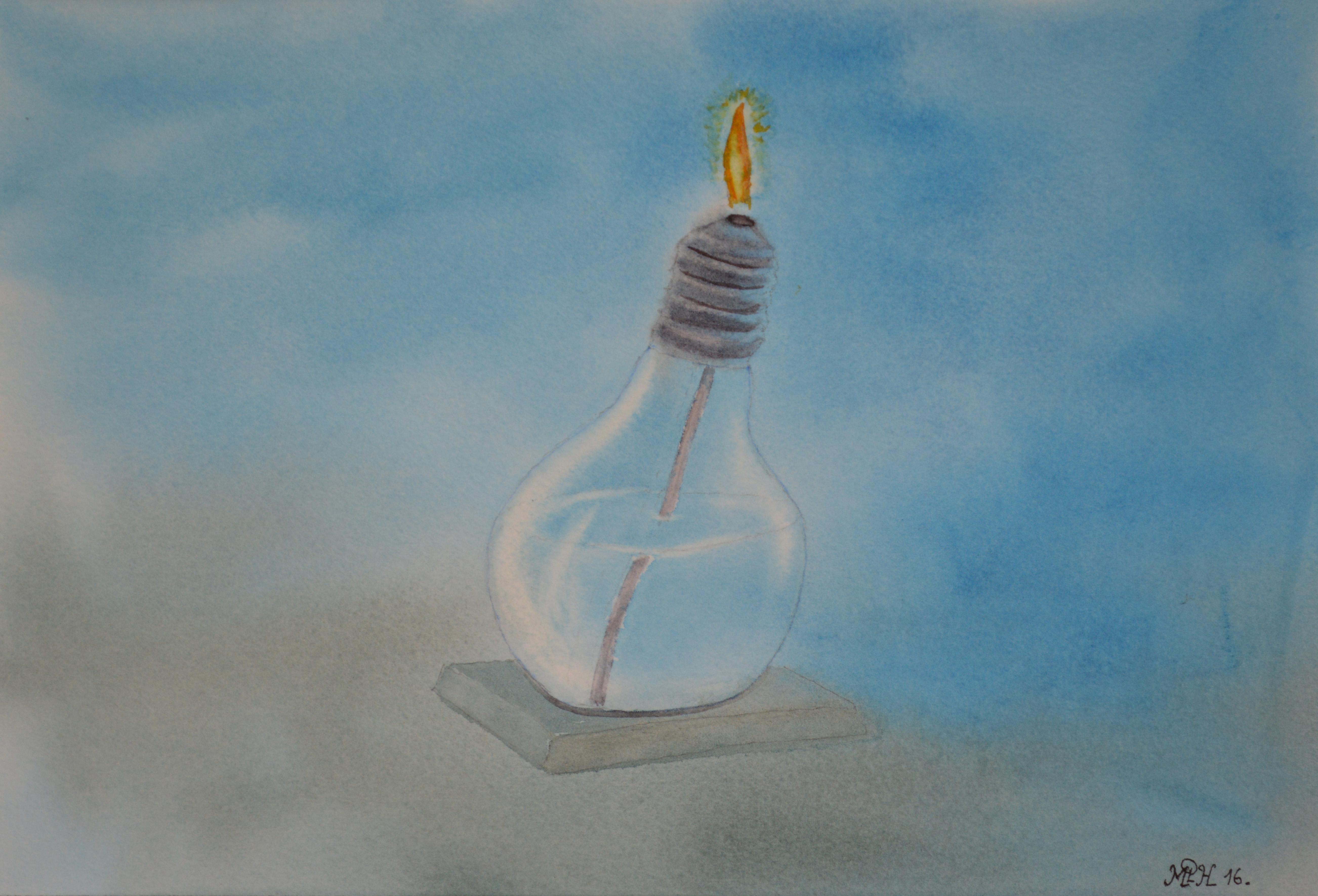 """Aquarelle n° 61 """"...et la lumière fut ..."""""""