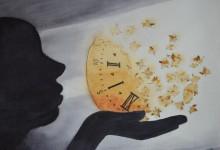 """Aquarelle N°64: """"Le vent en emporte le temps"""""""