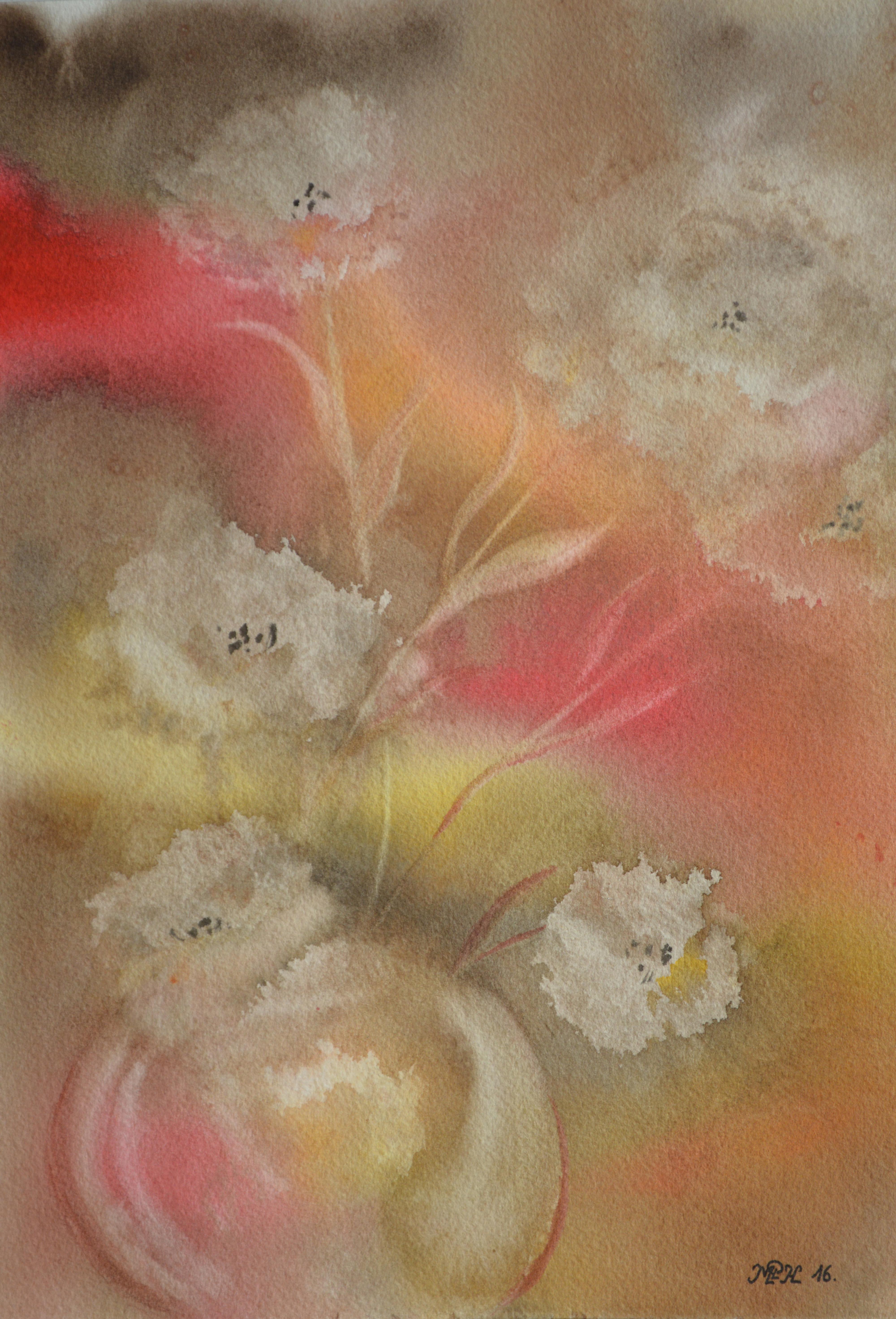 """Aquarelle N°65: """"Essais; Fleurs"""""""