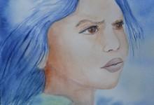 """Aquarelle n°71: """"Portrait 1"""""""