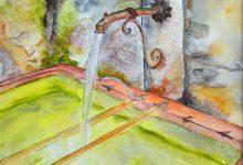 """Aquarelle n°91: """"...fontaine, je boirai de ton eau..."""""""