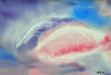 """Aquarelle n°105: """"Plumes au vent"""""""
