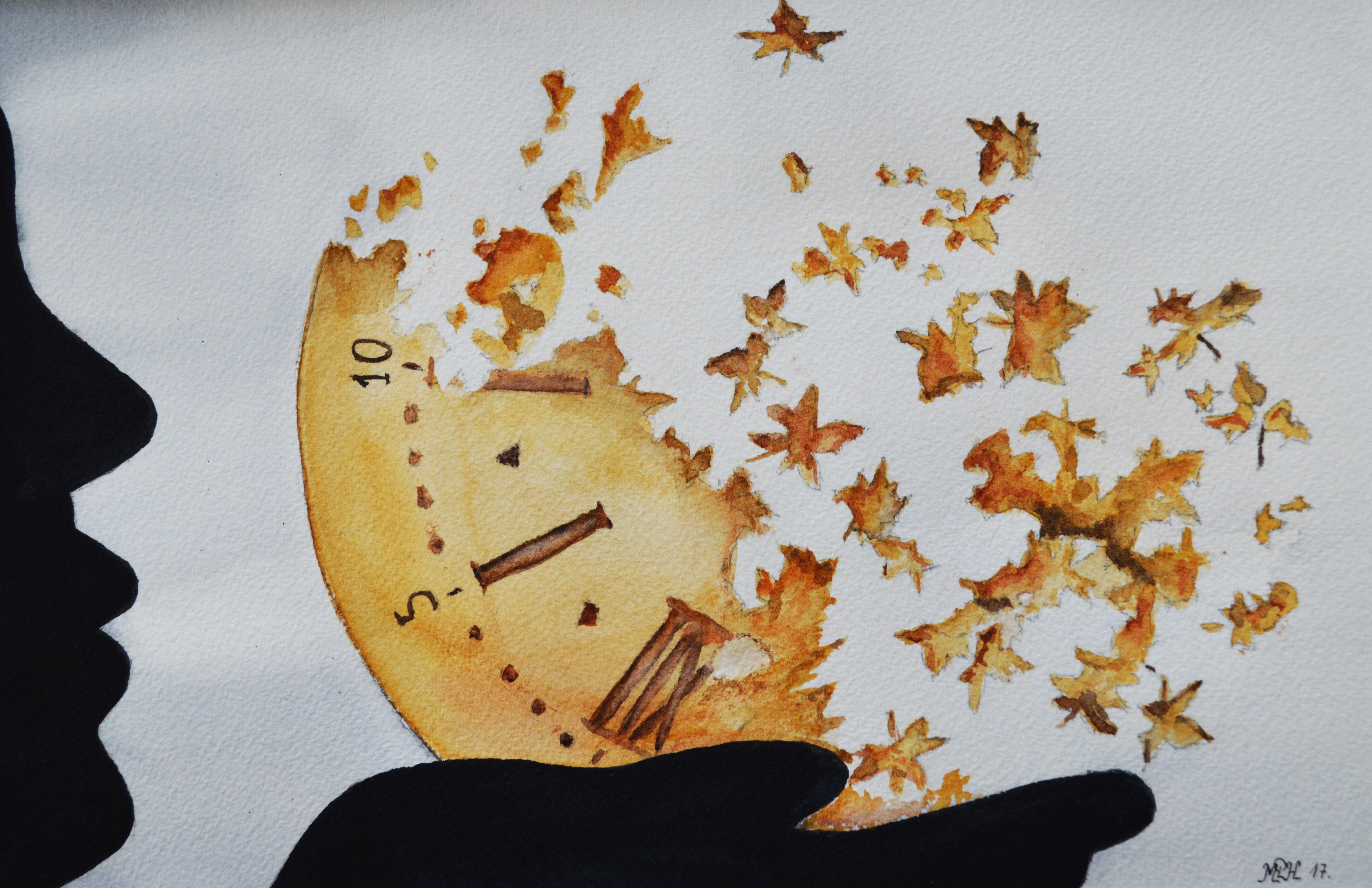 """Aquarelle n°111: """"Le temps emporté par le vent"""""""