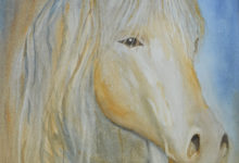 "Aquarelle n°116: ""Le Cheval """