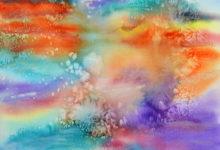 "Aquarelle n°120: ""Iridescence et Sel"""